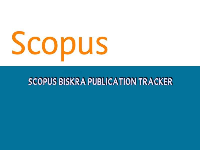 Scopus Biskra Publication Tracker - septembre 2020 -